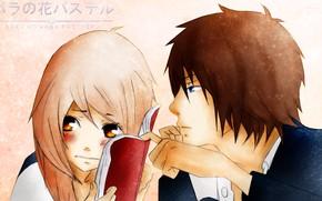 Picture pair, girl, guy, No Hana Pasuteru