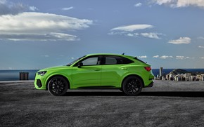 Picture Audi, side view, crossover, Sportback, 2020, RS Q3