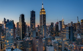 Picture building, home, New York, Manhattan, skyscrapers, Manhattan, New York City