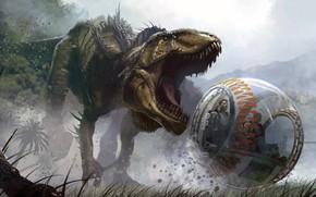 Picture dinosaur, Jurassic Park, Jurassic World, gyrosphere