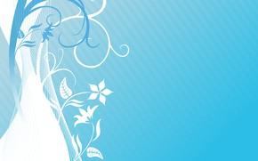 Picture flowers, texture, Light, blue, background, blue background, pattern, floral