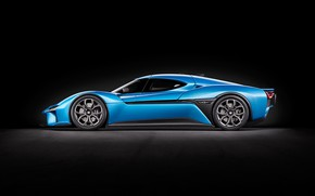 Picture background, art, sports car, hypercar, electric, electric car, NIO EP9, NextEV