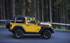 Picture yellow, SUV, side view, 4x4, Jeep, Mopar, 2019, Wrangler Rubicon 1941