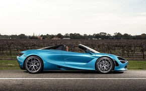 Picture McLaren, supercar, side view, Spider, 720S, 2019