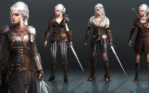Picture girl, sword, The Witcher 3: Wild Hunt