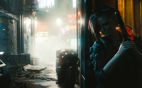 Picture Girl, The city, The game, Neon, Street, CD Projekt RED, Cyberpunk 2077, Cyberpunk, Cyberpunk, Cyberpunk …
