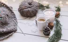 Picture snowflakes, coffee, thread, decor, hook, Queens