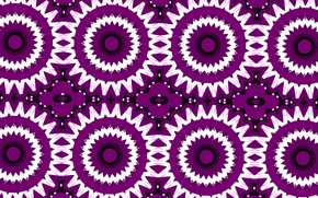 Picture white, flowers, pattern, purple