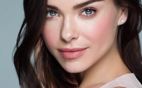 Picture look, girl, pose, portrait, makeup, brunette, singer, TV presenter, Elena Temnikova, Elena Temnikova