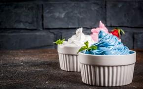 Picture ice cream, dessert, vanilla, berry