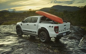 Picture mountains, stones, hills, Ford, pickup, Storm, Ranger, 2020