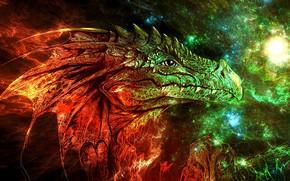 Picture face, dragon, fantasy
