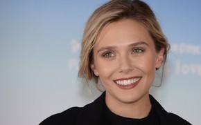 Picture look, pose, smile, actress, photoshoot, hair, Elizabeth Olsen, Elizabeth Olsen