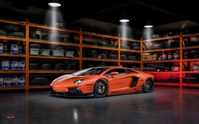 Picture Lamborghini, tuning, garage, Aventador, Liberty Walk, LB Performance