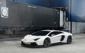 Picture Lamborghini, Italy, White, Aventador, VAG, Sight