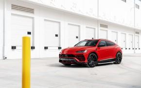 Picture Lamborghini, RED, Urus, Vossen, VAG