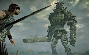 Picture sword, guy, Golem, 2018, Shadow of the Colossus