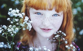 Picture girl, freckles, ginger