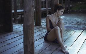 Picture girl, bridge, pose, Sara Morgan