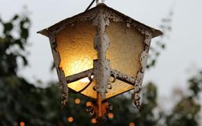 Picture light, holiday, decorative, vintage lantern