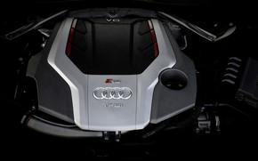 Picture Audi, engine, TFSI, RS 5, 2020, V6 Biturbo, 450 HP, RS5 Sportback