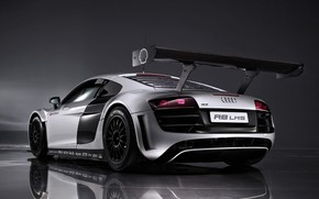Picture sports car, Audi R8 LMS, mid-engined all-wheel drive, The racing version, Grand touring