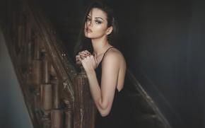 Picture railings, sexy, brown eyes, brown eyes, sexy, cute girl, cute girl, railing, beautiful brunette, beautiful …