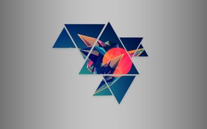 Picture background, Abstraction, Texture, texture, triangle