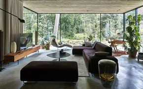 Picture room, interior, living room, Curtain of Brick House