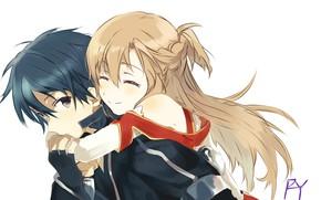 Picture pair, sword art online, Sword Art Online, Asuna, Kirito