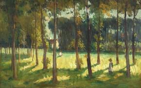 Picture landscape, picture, In The Grove Marple, John Young Johnstone, John Young Johnstone