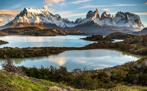 Picture landscape, mountains, nature, lake, glaciers, Patagonia