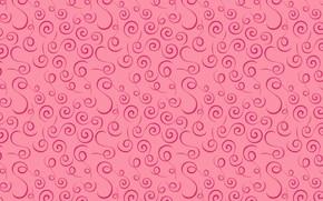 Picture pink, pattern, texture, pink, pattern, swirls