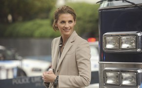 Picture look, pose, smile, watch, actress, the series, hair, Castle, Stana Katic, Castle, Stana Katic, Kate …