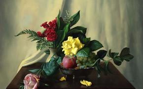 Picture flowers, still life, Alexei Antonov
