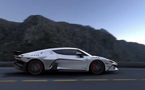 Picture rocks, supercar, V10, ItalDesign, 2017, Zerouno, 5.2 L.