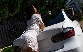 Picture machine, ass, look, pose, Girl, BMW, dress, Alex Bazilev, Valeriy Soldatov
