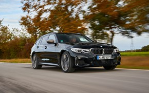 Picture trees, black, speed, BMW, 3-series, universal, 3P, 2020, 2019, G21, M340i xDrive Touring