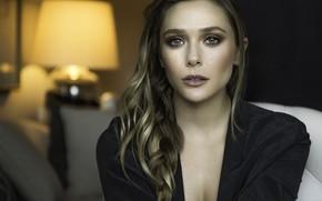 Picture look, girl, portrait, makeup, beautiful, Elizabeth Olsen