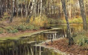 Picture Danish painter, 1903, Peter Merk Of Menstad, Peder Mørk Mønsted, Danish realist painter, Autumn in …