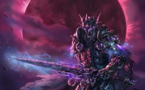 Picture elf, sword, armor, warrior, helmet