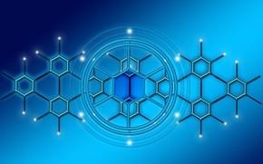 Picture blocks, cell, blockchain, data