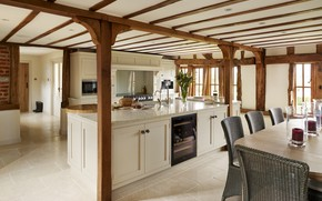 Picture interior, kitchen, dining room, Farmhouse, Tillingham