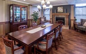 Picture design, room, interior, fireplace, dining room, Ebenezer Arbors st.Ridges