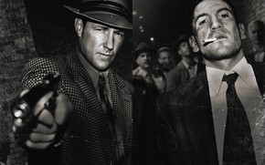 Picture photo, weapons, gangsters, City of gangsters, Mob City, Jon Bernthal, Edward Burns, John Bernthal, Bugsy …