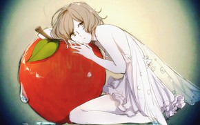 Picture girl, Apple, fairy