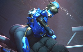 Picture ass, girl, pose, costume, ass, blizzard, Overwatch, Tracer, lena oxton