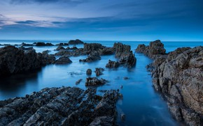 Picture sea, rocks, Scotland, St Andrews