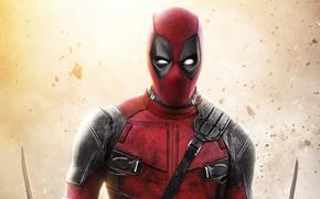 Picture background, costume, Deadpool, Deadpool, comic, MARVEL