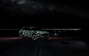 Picture light, night, Audi, 2018, E-Tron Prototype